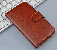 Кожаный чехол для Lenovo S920 коричневый
