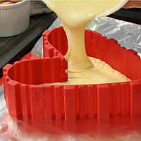 Honana CF-BW10 4 шт Силиконовый Волшебный Форма для выпечки DIY Прямоугольная форму Сердце для выпечки прямоугольной формы