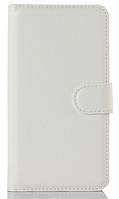 Кожаный чехол-книжка для Lenovo S850 белый