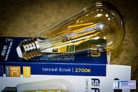 Светодиодная лампа Feron LB-764 ST64 золото 4W E27 2700K EDISON, фото 1