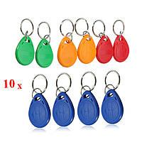 EM4305 125KHZ Копирование перезаписываемых EM ID Keyfobs RFID Tag Key Ring Card
