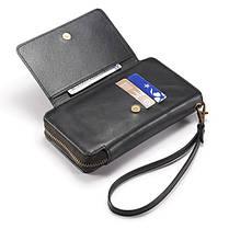 Bakeey ™ Retro Multi Slot Kickstand Съемный кожаный кошелек Zipper Чехол для Samsung Galaxy S8 Plus, фото 3