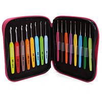 Алюминиевые вязальные крючки Пряжа Пластиковая ручка Вязальные спицы Комплект Weave Набор