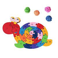 26Pcs Multicolor Письмо Детский образовательных строительных блоков Улитка игрушка головоломка для детей подарок