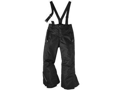 Зимние лыжные черные штаны CRIVIT р.122/128см