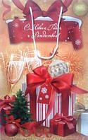 Новорічний пакет паперовий 370*240*100 Р-1 Набір 30, фото 1