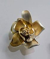 """Ручка кнопка """"Цветочный бутон"""" MONE 4418-A-Gold, матовое золото, фото 1"""