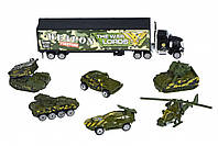 Набор машинок Same Toy Diecast Грузовик с танками SQ80956- 8Ut
