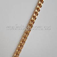 Цепочка бижутерийная, звено 3,5х4,5 мм, цвет- золото, 50 см