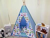 """Детский игровой домик, вигвам, палатка, шатер, шалаш, вігвам, дитячий будинок, палатка """"Монстрики"""""""