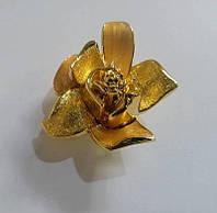 "Ручка кнопка ""Цветочный бутон"" MONE 4418-B-Gold, глянцевое золото, фото 1"