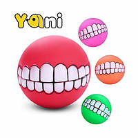 Yani Squeaky Pet Toy Sound Chew Ball Мягкая забавная игра-головоломка Ball Toy Teat Tranining Собака Toy