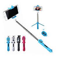 Bluetooth 3 в 1 Selfie Палка + Штатив + затвор Беспроводной самописец Monopod для мобильного телефона