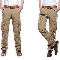 Mens Outdooors Тактическая армия Военный Твердый цвет Доставка Брюки Повседневный многофланцевый хлопок брюки