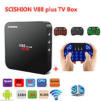 СМАРТ ТВ (smart tv box) приставка SCISHION V88 1/8 (Android 5, 1Gb\8Gb | 2Gb\8Gb) SCISHION V88 2\8 (Android 5, 2Gb\8Gb)