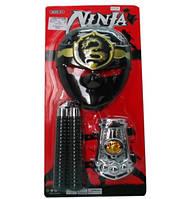 Набор оружия RZ1348 маска, нунчаки,,,, на планшете