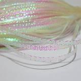 Декоративный шнур, плоский, 3 мм, белый перламутровый, 1 м, фото 3