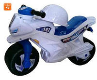 Мотоцикл 2-х колесный МУЗ. БЕЛЫЙ  (каска, значек)
