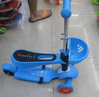 Самокат (6шт) алюм+пласт.,3 колеса PVC , колёса пер 120мм задн 80 мм, 4 цвета