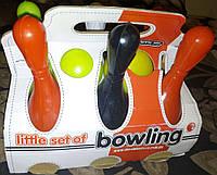 Набор для боулинга малый, 2 шара 6 кеглей, в картонной упаковке