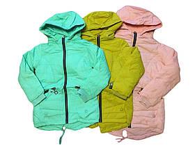 Куртка демисезонная для девочек на флисе, GRACE, размеры 134-164, арт. G-70888
