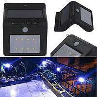 Солнечная энергия 8 светодиодных безопасности настенный свет PIR датчик движения Открытый водонепроницаемый светильник