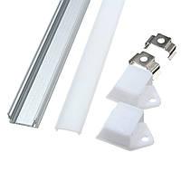 50CM XH-008 U-образный алюминиевый держатель канала для светодиодной ленты Light Bar под лампой освещения лампы