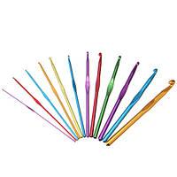 Алюминиевые крючки для вязания крючком Многоцветные вязальные спицы