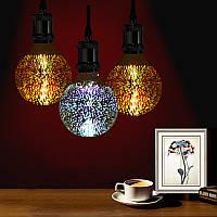 3D Фейерверки E27 G80 Светодиодные Ретро Эдисон Декоративные лампы Свет лампы AC85-265V