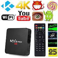СМАРТ ТВ (smart tv box) приставка MX PRO Q 4K 1/8 (Android 6, 1Gb\8Gb) 1Gb\8Gb