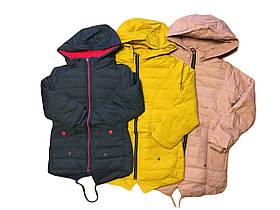 Куртка демисезонная для девочек на флисе, GRACE, размеры 116-146, арт. G-70886