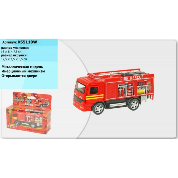 Модель KINSMART пожарка Rescue Fire Engine /грузовик Rescue team