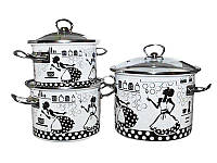Набор кастрюль эмалированных (3 шт) Epos №1500 Kitchen, арт. 1500kit