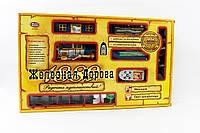 Железная дорога на управ. 0620 на батар, муз., свет. эффекты,  поезд, 3 вагона, в коробке 53*31*7 см
