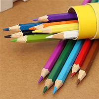 12 цветов рисования карандаши комплект шестигранные баллонах,не являющиеся toxicartists пишущих черчения
