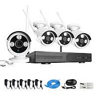 Self-Contained 720P 4CH Smart Home Plug & Play Беспроводная система IP-видеонаблюдения для наружной установки