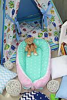 """Кокон-гнездышко, позиционер, babynest, кокон для новорожденных """"Принцесса"""""""