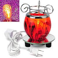AC100V Электрический ароматизированный нагреватель Лампа Восковая лампа горелки Аромат Диффузор Фиолетовый красный