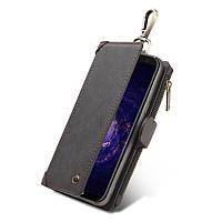 CaseMe Кожа PU Многофункциональный Съемный Молния Кошелек Крюк Чехол для Samsung Galaxy S8