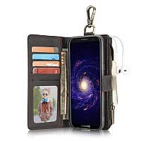 CaseMe Кожа PU Многофункциональный Съемный Молния Кошелек Крюк Чехол для Samsung Galaxy S8 Plus