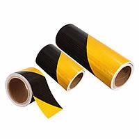 5см/10см/20см предупреждения безопасности движения ночью отражающей полосы желтый черный смещения наклейка лента