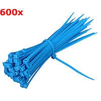 600Pcs Самозапирающийся нейлоновый трос для кабеля Zip Ties Colorful 100mm