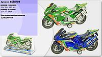 Мотоцикл инерционный 665859  под слюдой 29*10*16,5 см