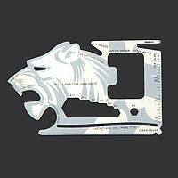 Тигр-форма 18 инструментов в 1 конечных инструментов выживания многофункционального ножа карточки карманный инструмент