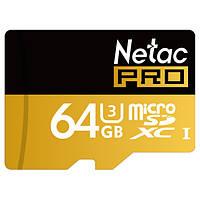 Netac про p500 64GB UHS-я и3 TF карта микро SDXC карты для мобильного телефона
