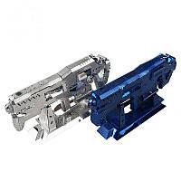 MU DIY 3D головоломка Нержавеющая металлическая модель Starcraft Gauss Musket Silver Blue Color