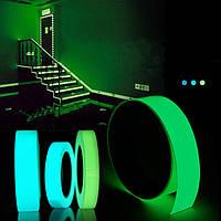 5mx15mm светящаяся лента самоклеящаяся зеленый синий светящийся в темноте безопасности этапа домашнего декора