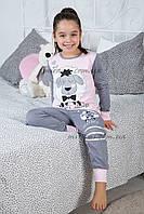 Турецкие пижамы с брюками на манжете для девочек, р-р 3-4 г.