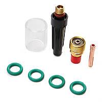 8Pcs 3 / 32inch TIG Сварочная горелка для газовой линзы Pyrex Cup Kit для Tig WP-9/20/25 Series
