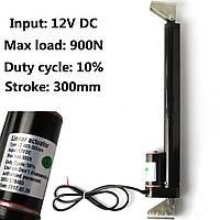 300mm 225lbs 900N линейный привод миниатюрный электрический шарнир с 2 монтажными кронштейнами